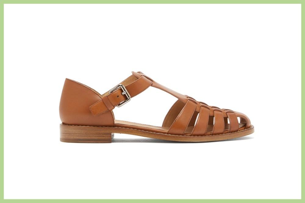 Kelsey T-Bar Leather Sandals