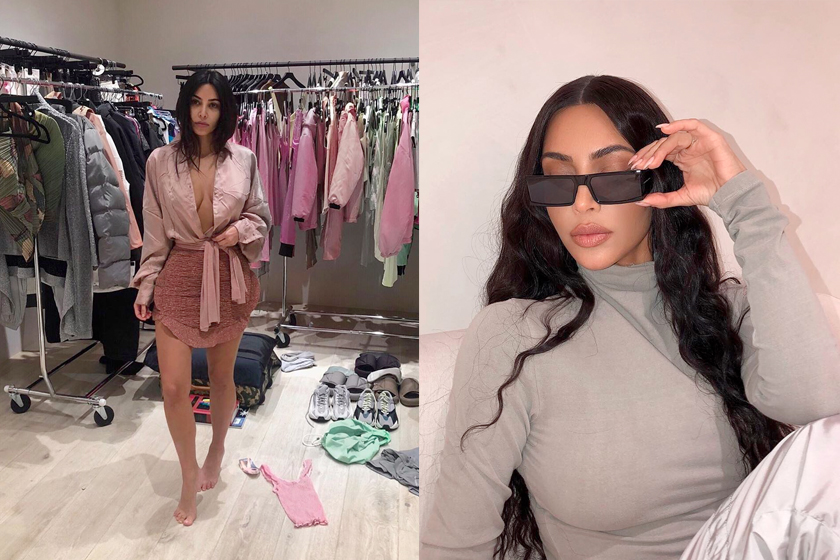 kim kardashian thong heels slipper outfit trends