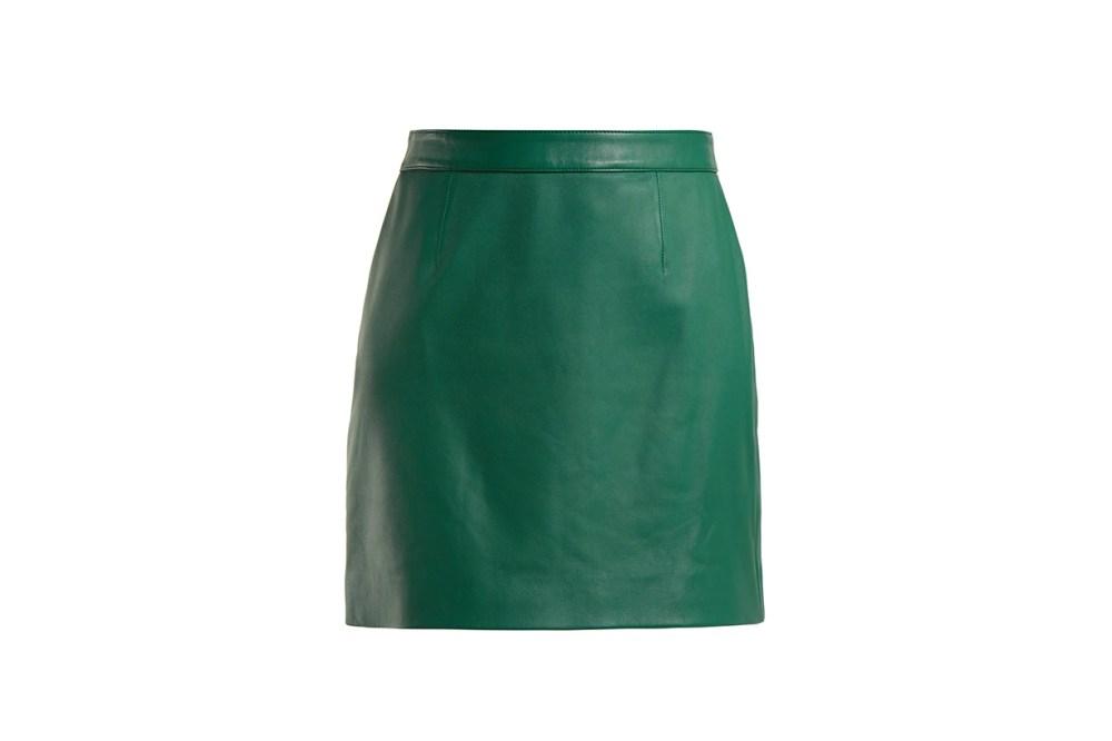 Alexachung Leather Mini Skirt