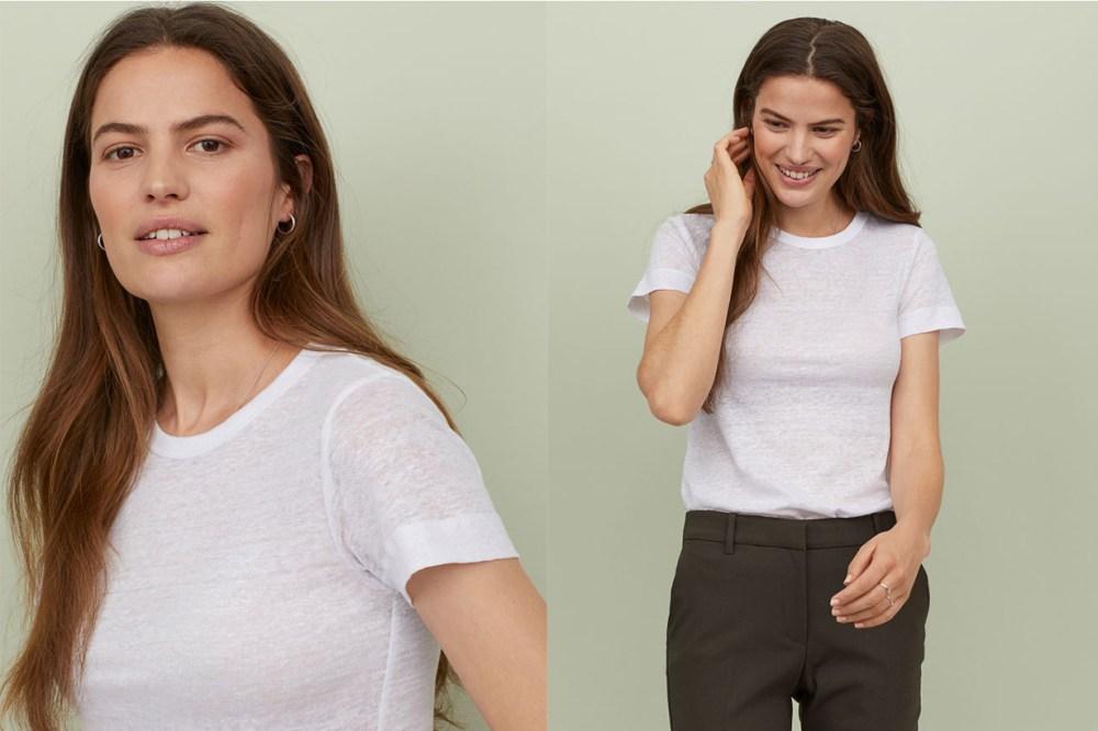 H&M Linen T-shirt