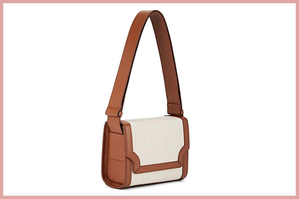 MARGE SHERWOOD Vava Leather-Trimmed Shoulder Bag