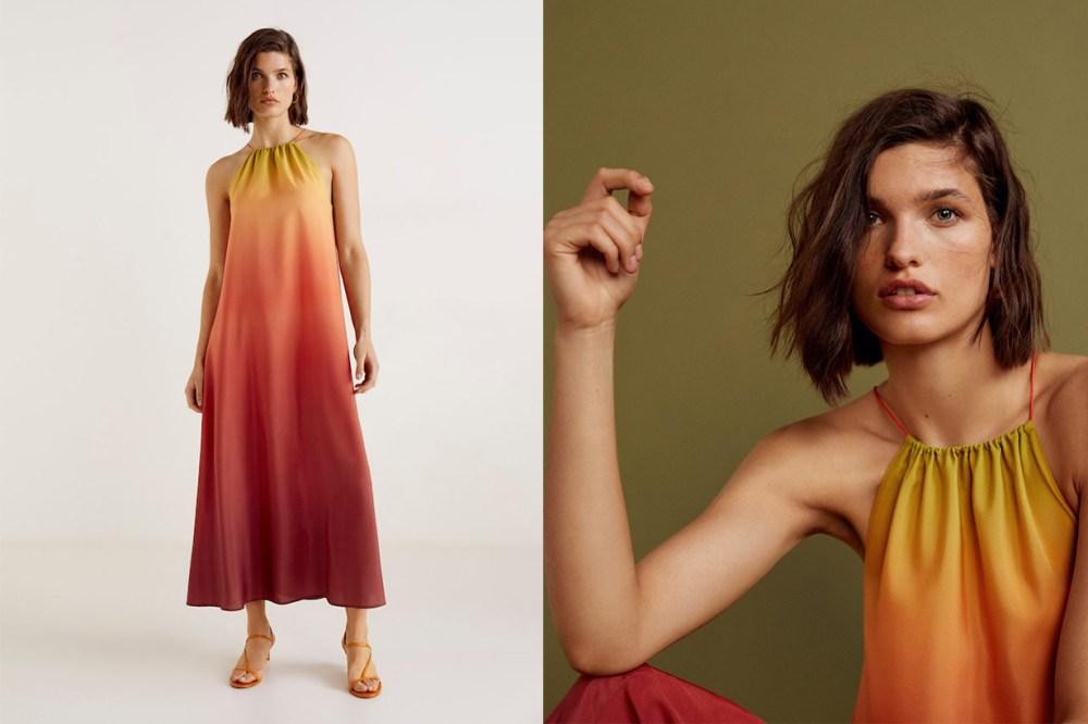 Mango Gala Collection Tie-dye print dress