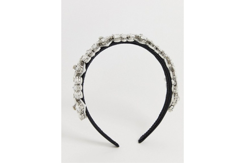 My Accessories London Exclusive Crystal Embellished Wide Headband