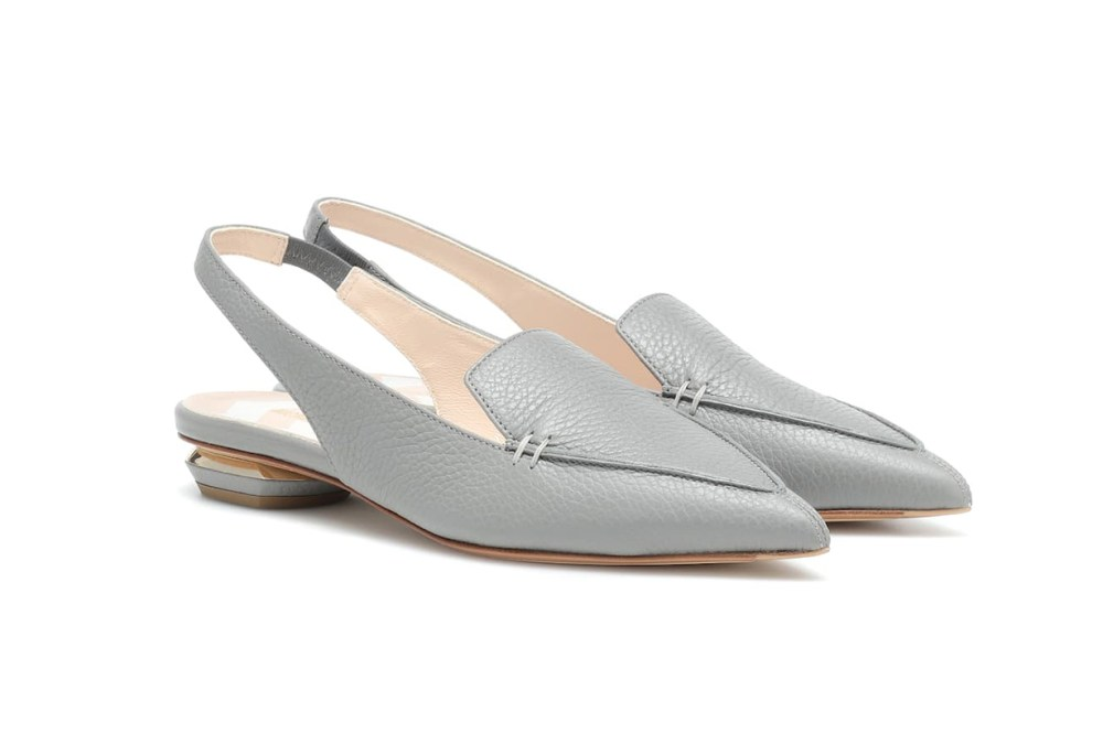 NICHOLAS KIRKWOOD Beya Leather Slingback Slippers