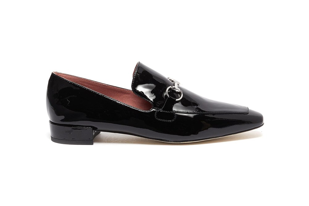 Pedder Red 'ZACK' Horsebit Patent Leather Loafers