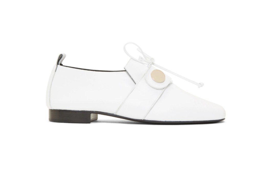 Pierre Hardy White Penny Loafers
