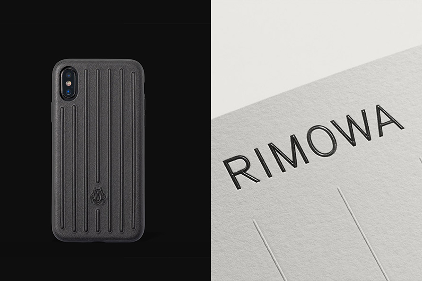 rimowa black leather iphone case