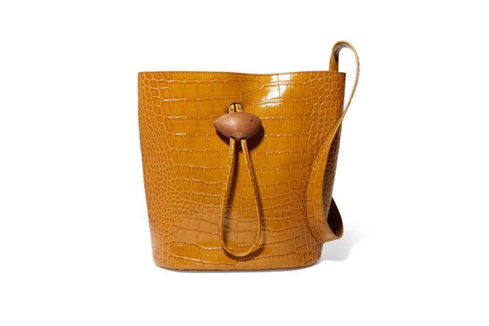 REJINA PYO Naomi Embellished Croc-Effect Leather Tote