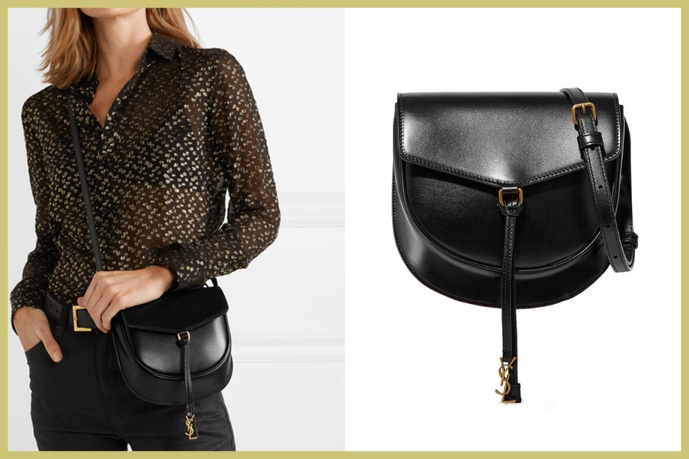 SAINT LAURENT Datcha Leather Shoulder Bag
