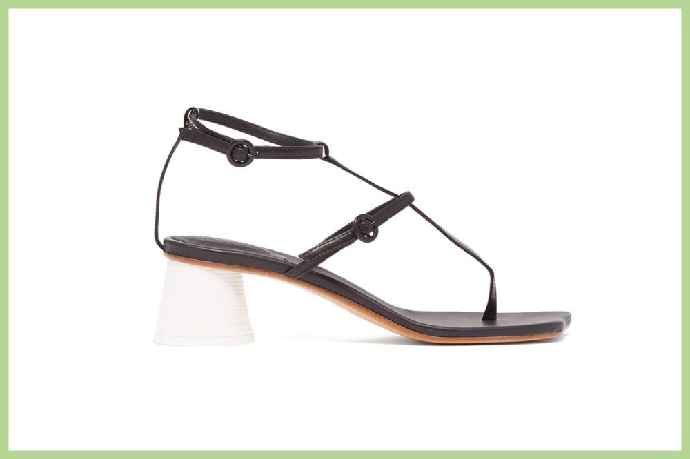 Sculpted Cup-Heel Sandals
