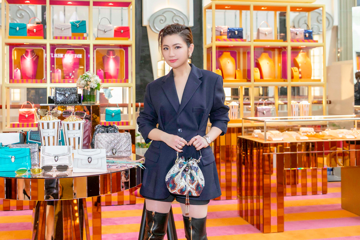 selina bvlgari aw19 handbags popcorn taipei 101 interview