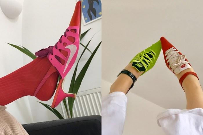 一切都因搬家而起:捨不得丟掉舊波鞋,這位設計師改造「Sneaker Heels」時髦又好看!