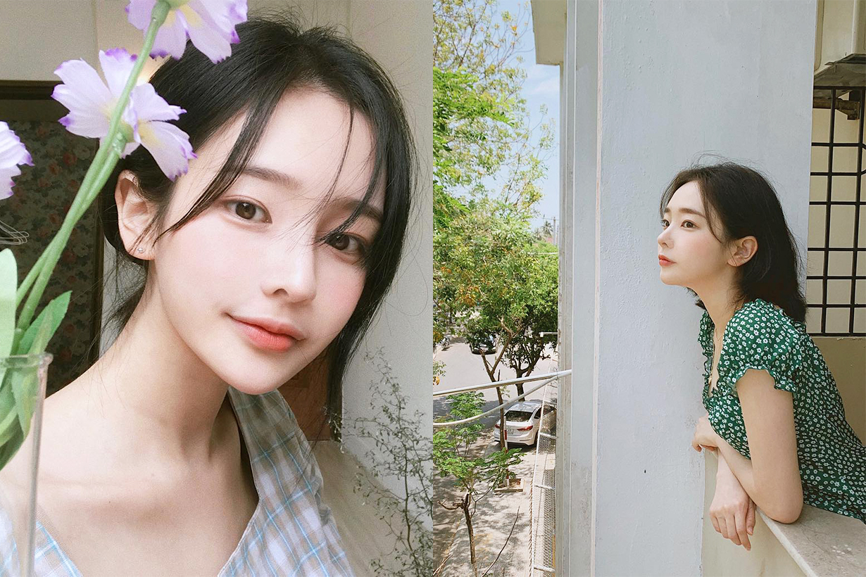 Korean pretty girls instagram influencer Son Hwa Min 1 million followers