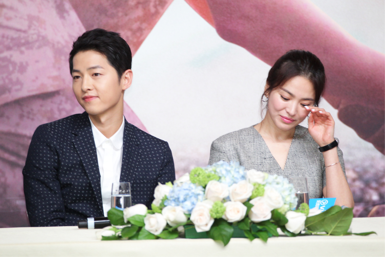 Song Joong Ki Song Hye Kyo divorce related rumours living apart Hyena Park Bo Gum k pop korean idols celebrities actors actresses