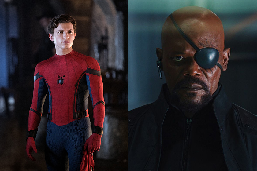 spider man far from home nick fury blind eyes poster mistake Samuel L Jackson