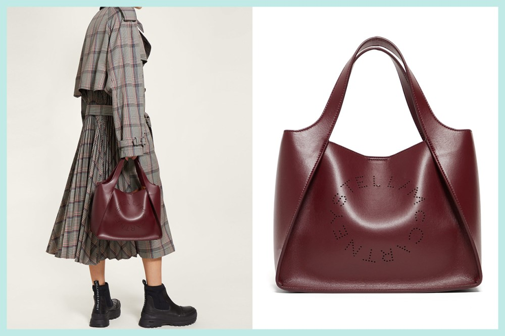 Stella McCartney Stella Perforated Logo Faux-Leather Tote Bag