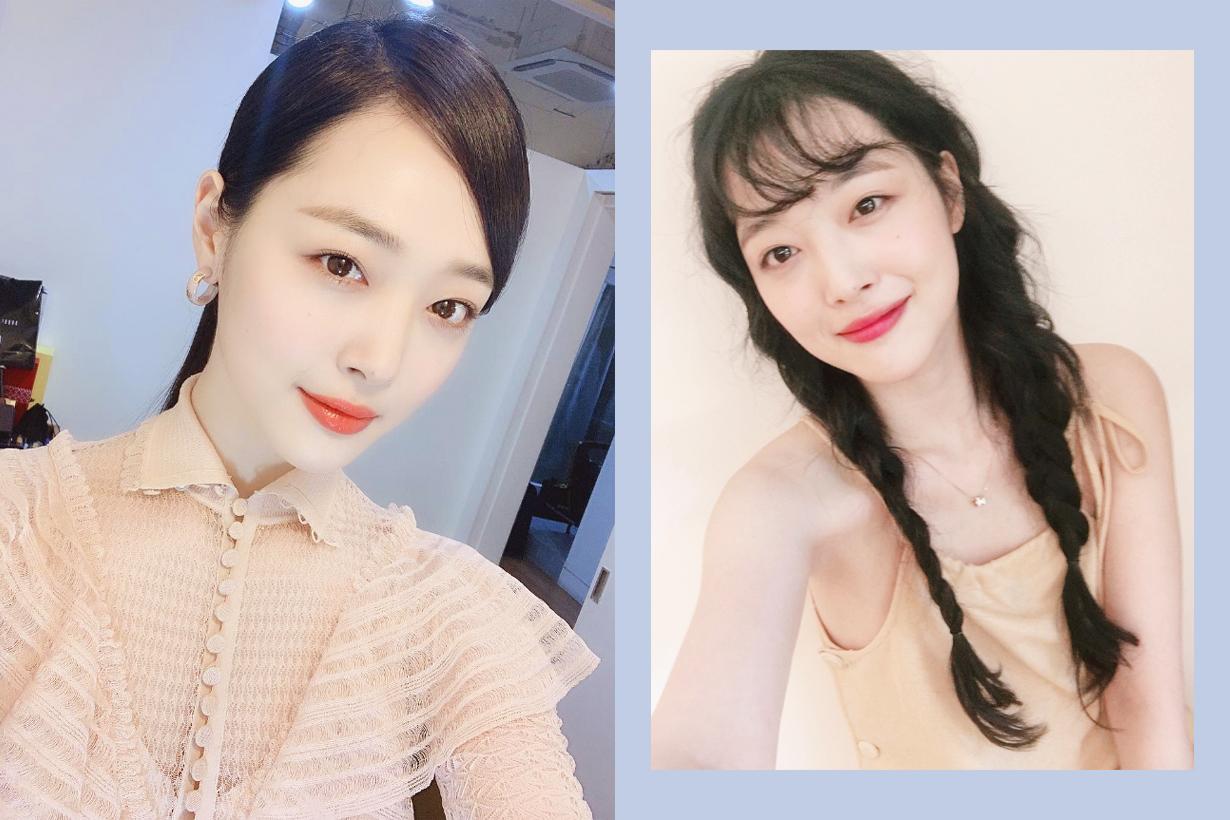 Sulli Choi Jin Ri Pink hair colour Goblin Sailor Moon Dorothy k pop korean idols celebrities singers f(x)