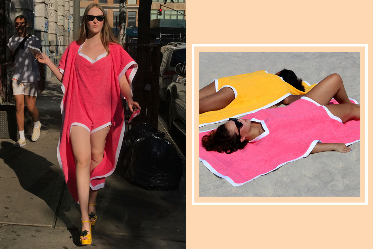 The 'towelkini' is a beach towel and swimsuit cover-up all in one