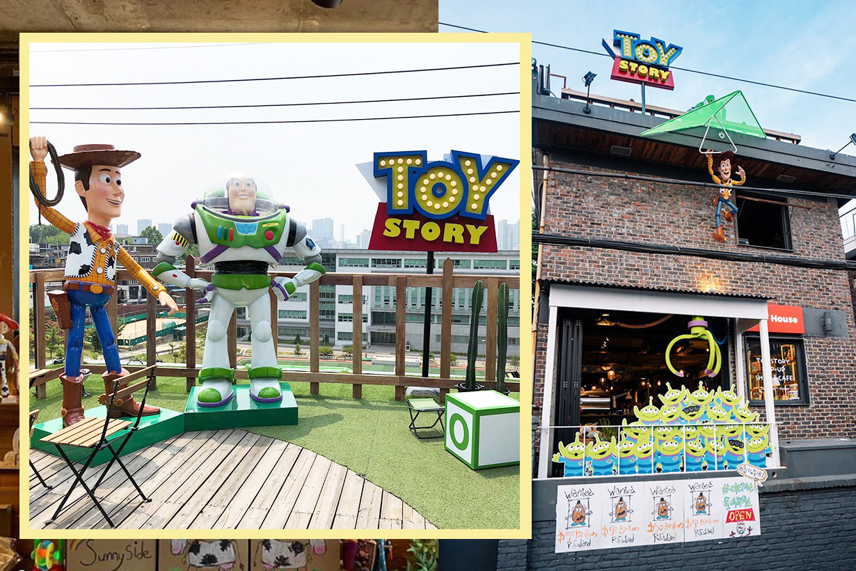 Toy story 4 disney movie Woody Buzz Bo Peep Forky Korea Itaewon Toy House Cafe Instagram Instagrammable Travel spots