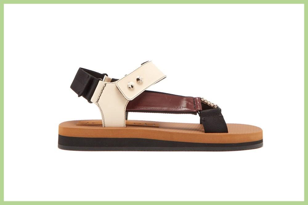 Tri-Colour Python-Effect Sandals