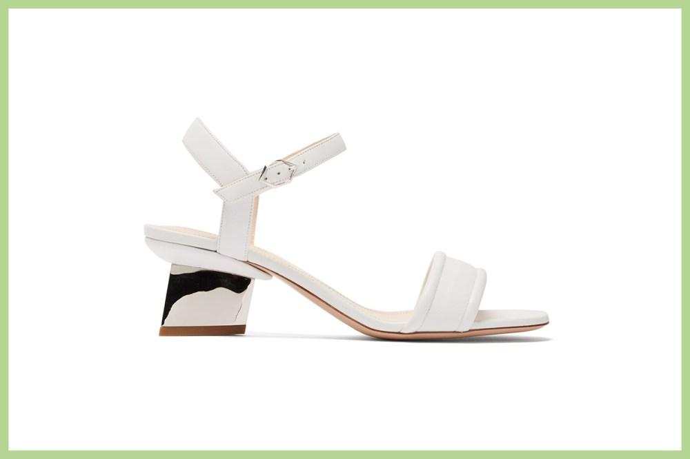 Veronika Pearl-Heeled Leather Sandals