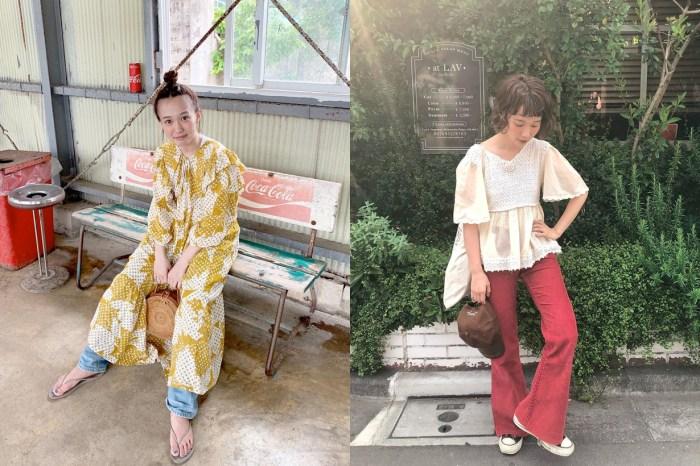 古著不只是一種風格而已,跟著這位透明感日本女生利用「混搭」配出多種 Look!