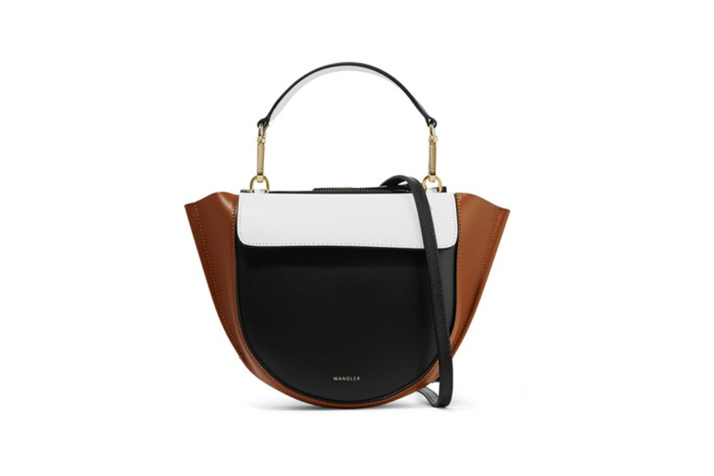 Wandler Hortensia Mini Color-Block Leather Shoulder Bag