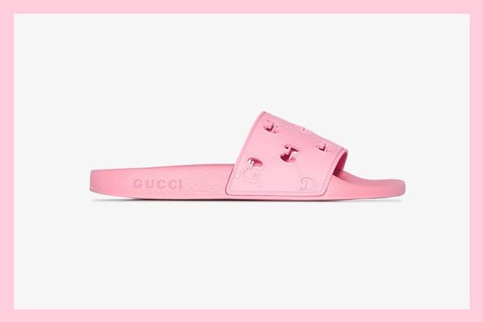 遠看像蝴蝶結:Gucci 這一雙夢幻粉紅拖鞋,即將成為本季熱門搶手單品?