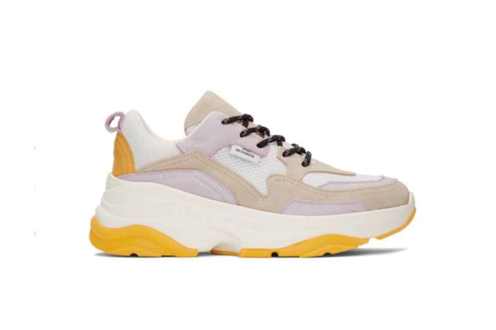 Won Hundred White & Taupe Nika Sneakers