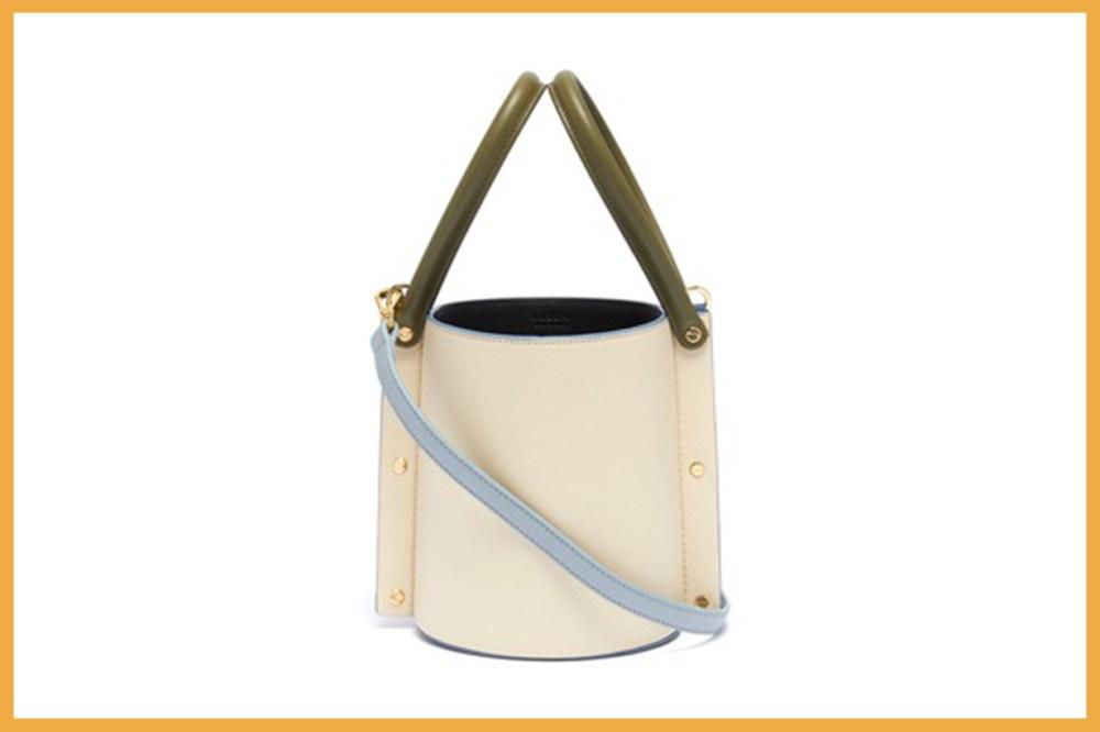 YUZEFI 'CUBO' Colourblock Leather Becket Bag