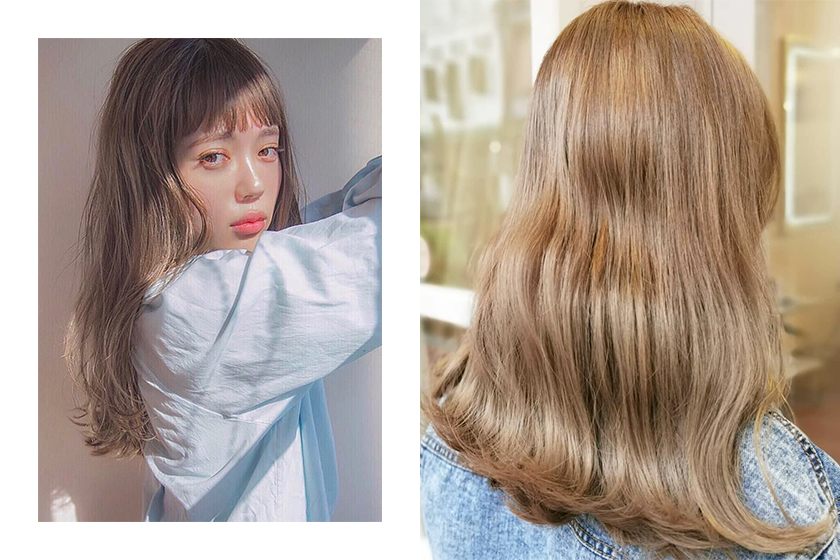 2019 #milkteahair Summer hairstyle Hair Color Trend