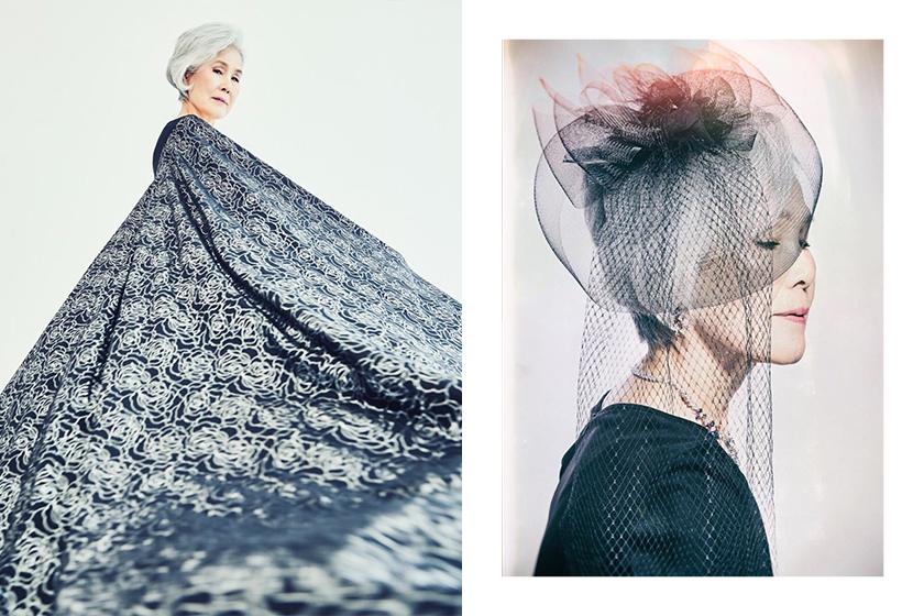 77 years old Korean Fashion model Choi Soon-hwa