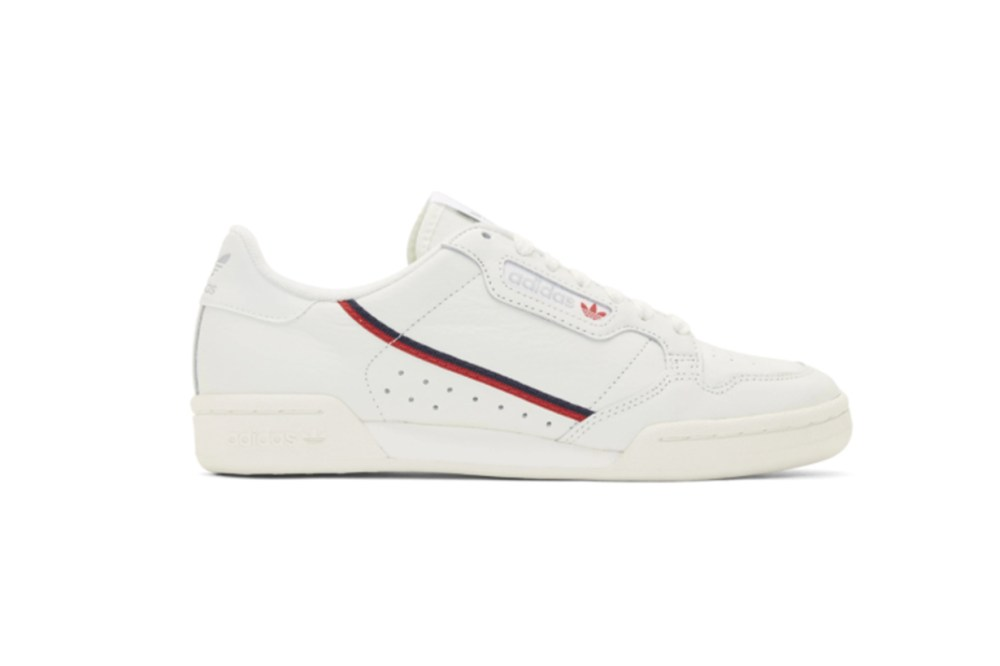 adidas Originals White Continental 80 Sneakers
