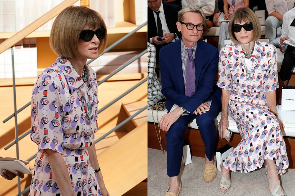 Anna Wintour Chanel Runway White Tee