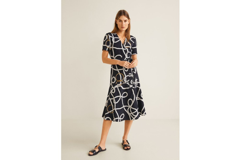 Mango Chain Printed Dress