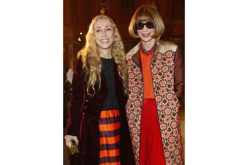 Anna Wintour Orange Outfits Prada