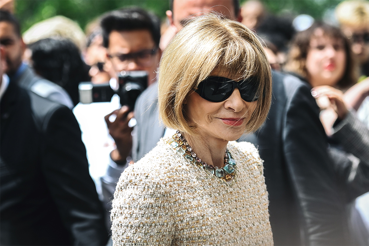 Anna Wintour Wore a T-Shirt to the Chanel Couture Show 2019