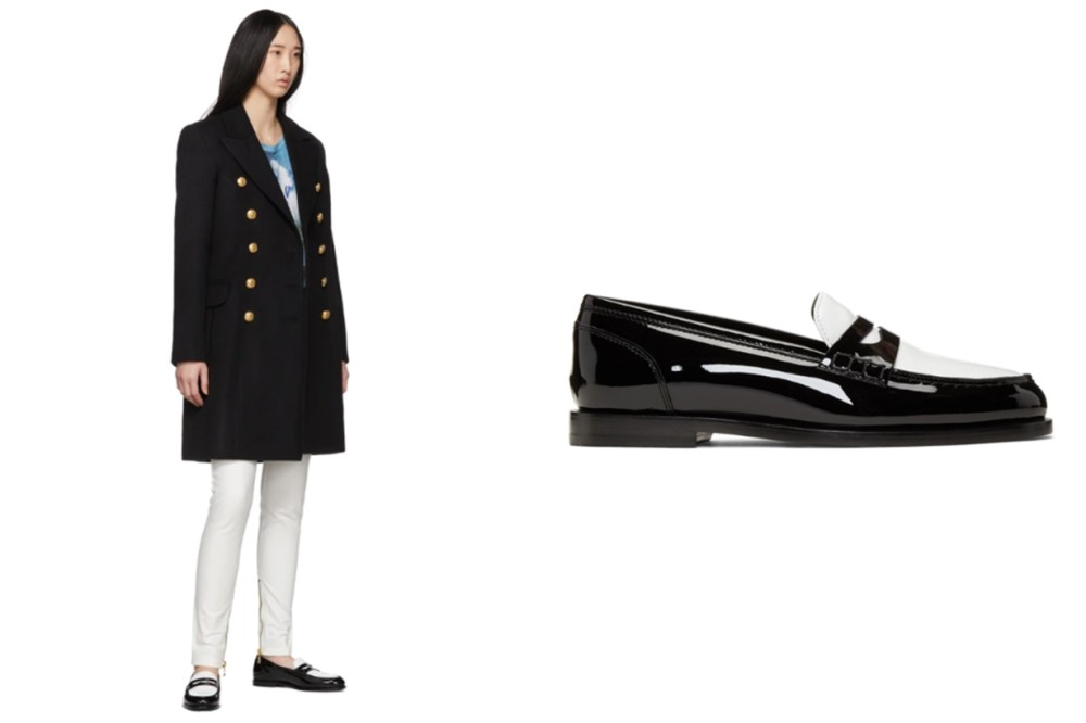 Balmain Black & White Kriss Loafers