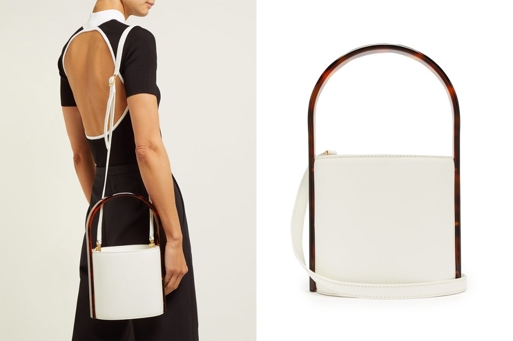 Bisset Acetate and Leather Bucket Bag