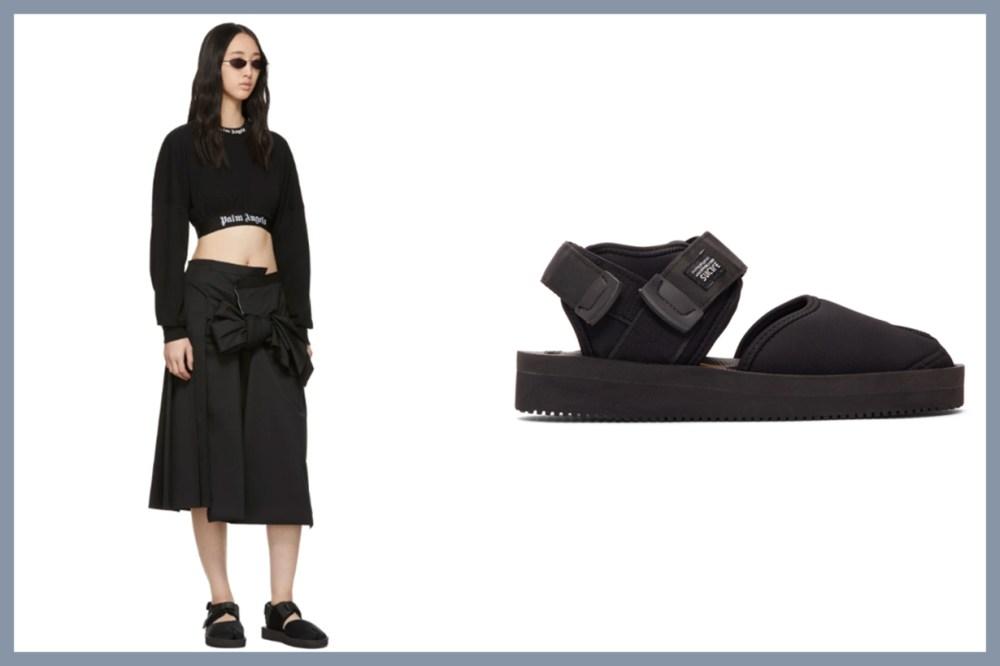 Black Bita-V Sandals