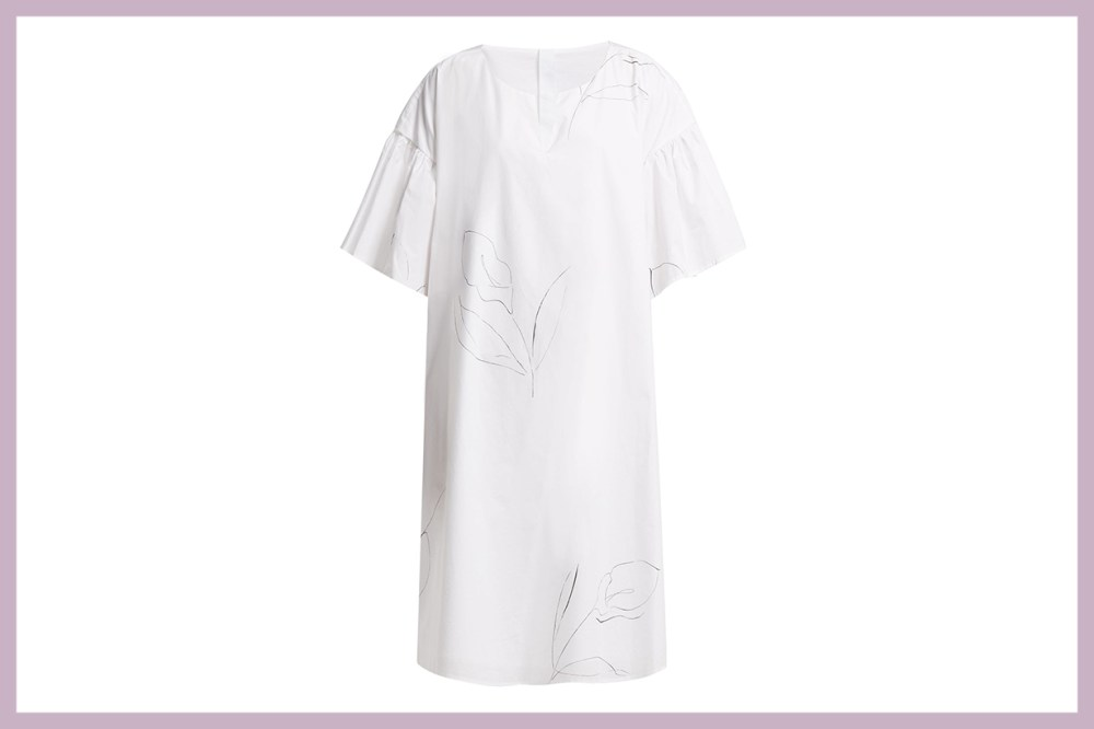 Cambridge-Print Cotton Poplin Dress