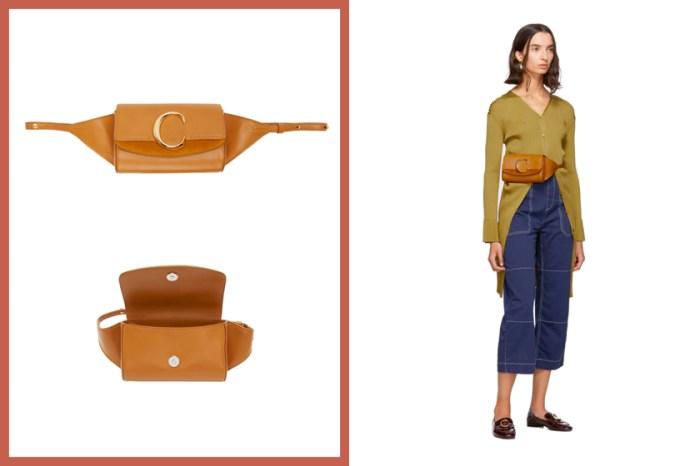 最適合優雅氣質女生的腰包:Chloé 的 C Logo Belt Bag 兩種背法都好看!