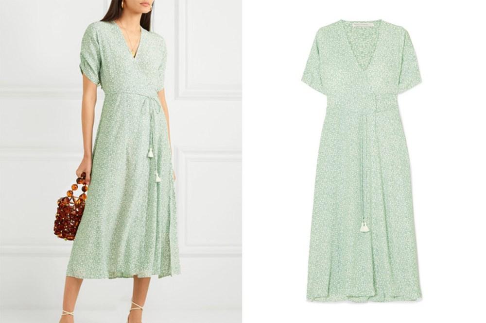 Chiara Floral-Print Crepe Wrap Midi Dress