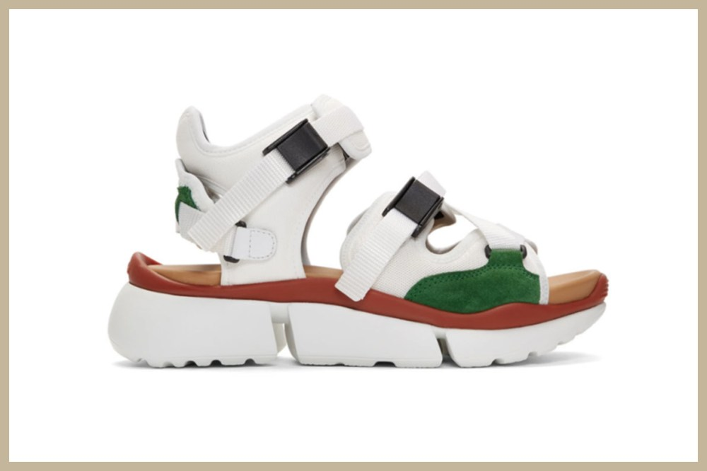 Chloé White Sonnie Sneaker Sandals