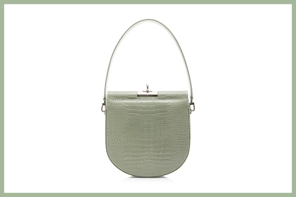 gu_de Demi Lune Small Croc-Effect Leather Bag