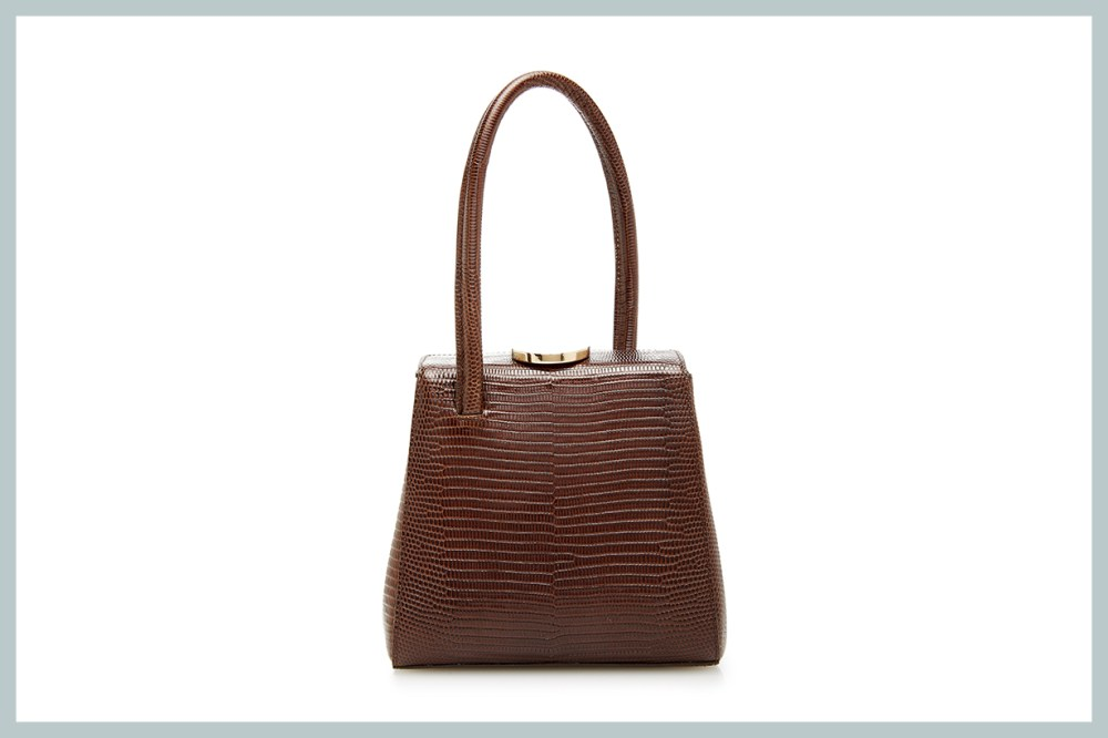 Lauren's Closet Little Liffner Mademoiselle Lizard-Embossed Leather Bag