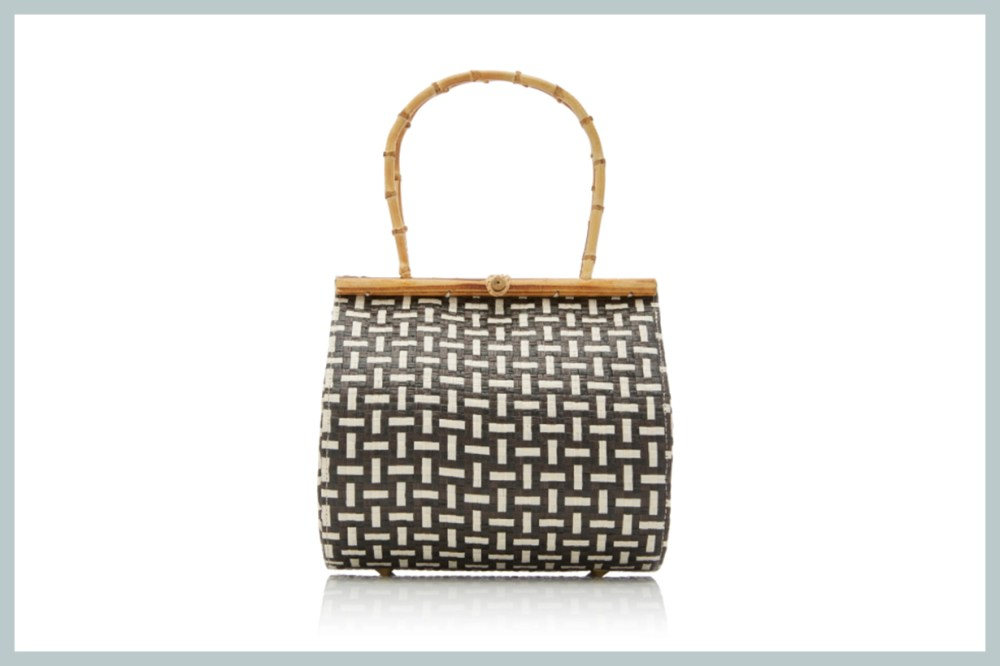 Cult Gaia Via Bamboo And Raffia Tote