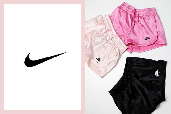 夏季熱賣:Nike 最新推出的運動短褲,緞面材質與粉嫩配色引起女生搶購!