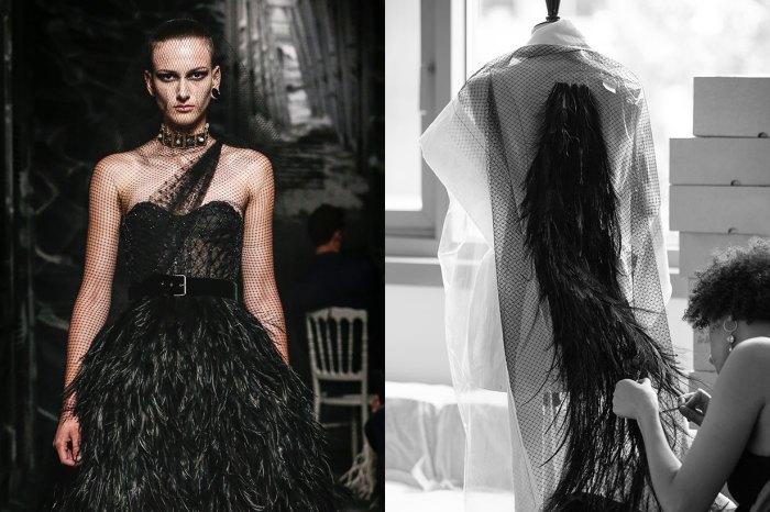 獨家公開 Dior 高訂製作過程!每片黑羽毛也由工匠逐一飾上⋯⋯