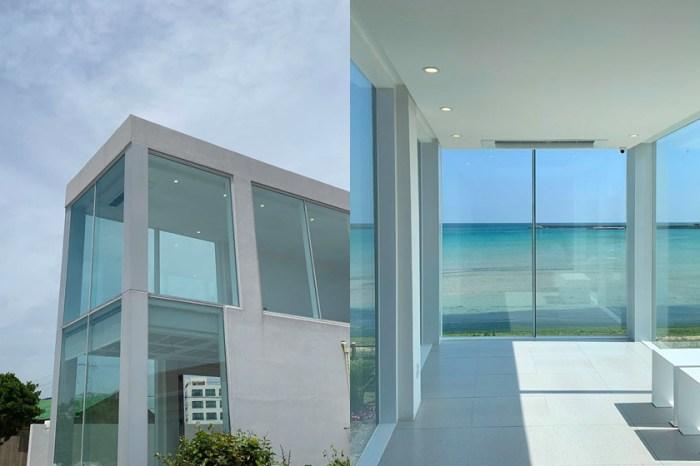 逃離城市喧囂:走進濟州島這間純白咖啡廳,一大片落地玻璃窗寧靜眺望大海!